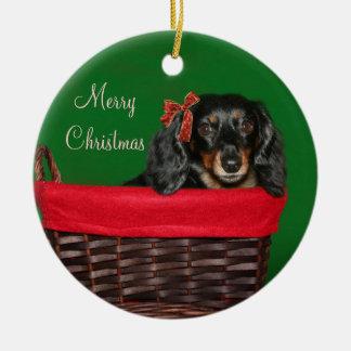 Dachshund Christmas Christmas Ornaments