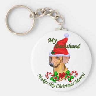 Dachshund Christmas Gifts Keychain