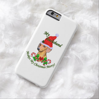 Dachshund Christmas Merry Barely There iPhone 6 Case
