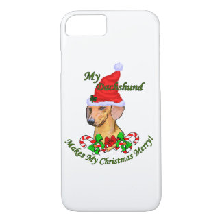 Dachshund Christmas Merry iPhone 7 Case