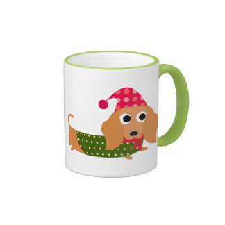 Dachshund Christmas Coffee Mug