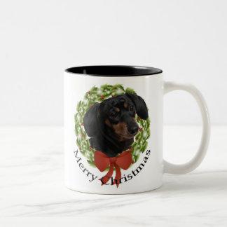 Dachshund Christmas Mug