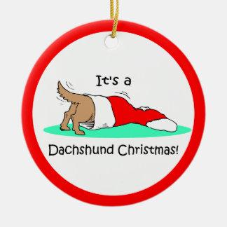 Dachshund Christmas Christmas Tree Ornaments