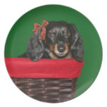 Dachshund Christmas Party Plates