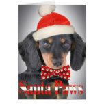 Dachshund Christmas Paw card