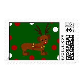 Dachshund Christmas Postage stamp