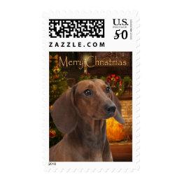 Dachshund Christmas Postage Stamps