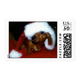 Dachshund Christmas stamp