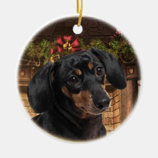 Dachshund christmas tree ornament zazzle