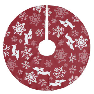 Dachshund Christmas Tree Skirt Wiener Dog Holiday