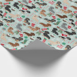 "Dachshund Christmas Wrapping Paper<br><div class=""desc"">cute doxie wrapping paper,  dachshund wrapping paper,  doxie gift wrap,  christmas dog,  dog christmas christmas wrapping paper</div>"