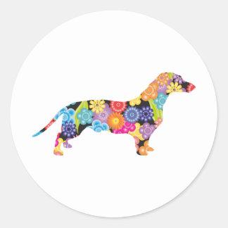 Dachshund Classic Round Sticker