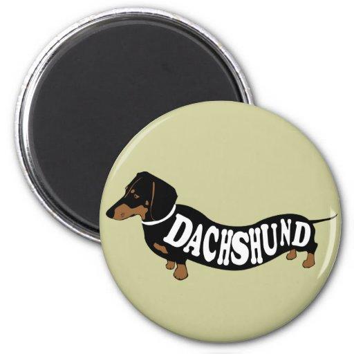 dachshund_clean 2 inch round magnet
