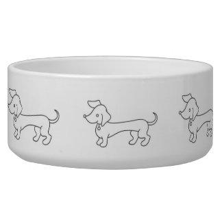 Dachshund Clipart Dog Bowls