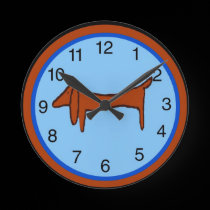 Dachshund Clock wall clocks