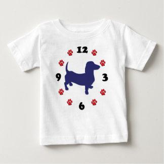 Dachshund Clock Baby T-Shirt