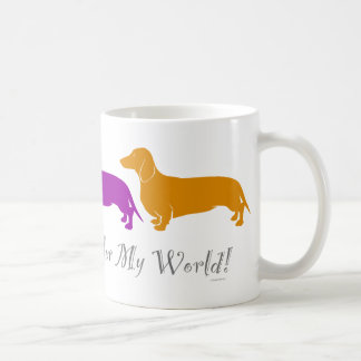 Dachshund Color My World Coffee Mug