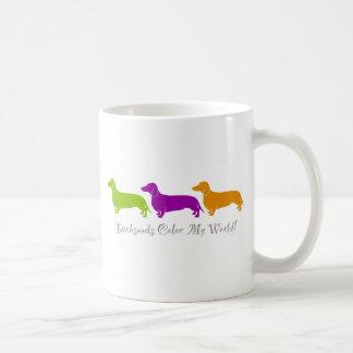 Dachshund Color My World Coffee Mug