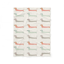 Dachshund Cosy Throw Fleece Blanket