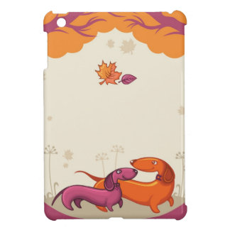 Dachshund Couple-Org/Pur Cover For The iPad Mini