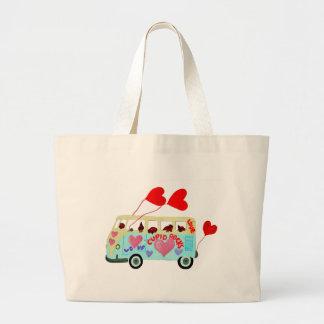 Dachshund Cupids In Their Valentine Love Mobile Canvas Bag