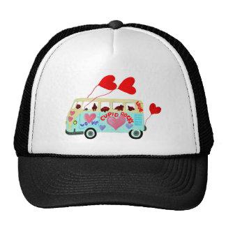 Dachshund Cupids In Their Valentine Love Mobile Trucker Hat