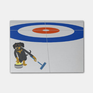 Dachshund Curling Post-it® Notes