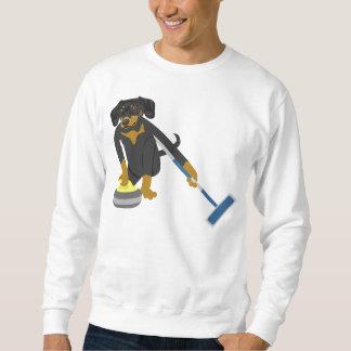 Dachshund Curling Sweatshirt