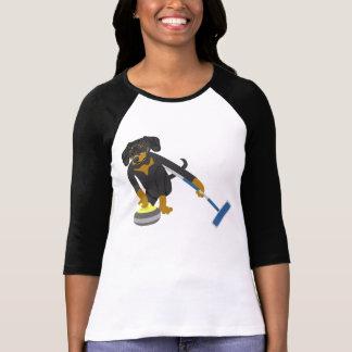 Dachshund Curling Tshirts