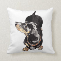 dachshund cushion by Annabel Tarrant