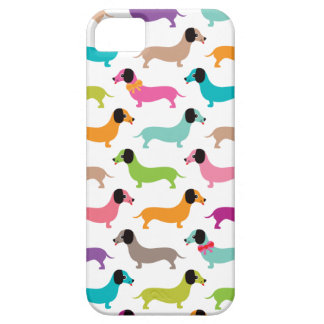 Dachshund cute puppy dog colorful iphone case