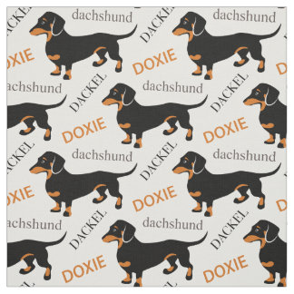 Dachshund, Dackel, Doxie Cute Dog Pattern Fabric
