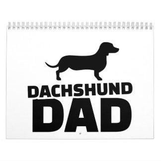 Dachshund dad calendar