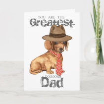 Dachshund Dad Card