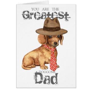Dachshund Dad Greeting Card