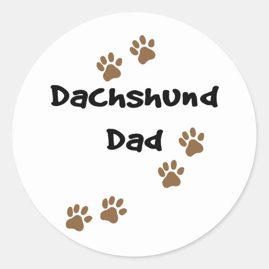 Dachshund Dad Classic Round Sticker