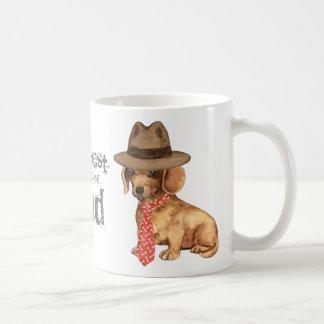 Dachshund Dad Classic White Coffee Mug