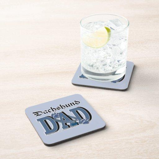 Dachshund DAD Beverage Coaster