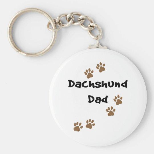Dachshund Dad Keychain