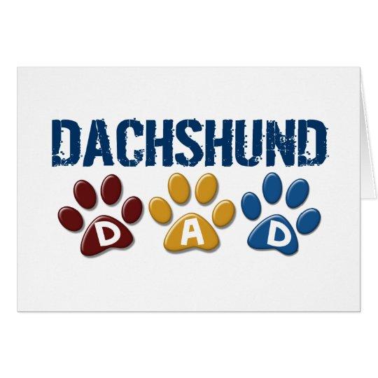 DACHSHUND Dad Paw Print 1 Card