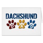 DACHSHUND Dad Paw Print 1 Greeting Card