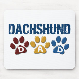 DACHSHUND Dad Paw Print 1 Mouse Pad