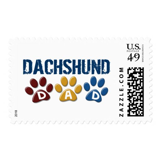 DACHSHUND Dad Paw Print 1 Stamps