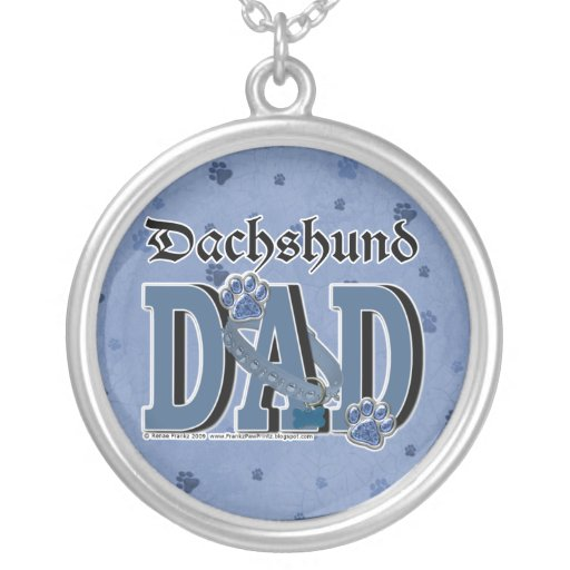 Dachshund DAD Personalized Necklace