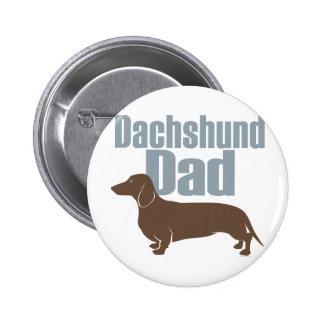 """""""Dachshund Dad"""" Pinback Button"""