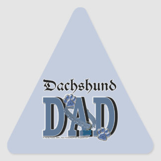 Dachshund DAD Triangle Sticker