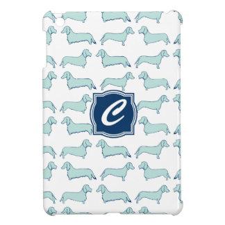 Dachshund Dash Monogram iPad Mini Covers