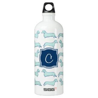 Dachshund Dash Monogram SIGG Traveler 1.0L Water Bottle