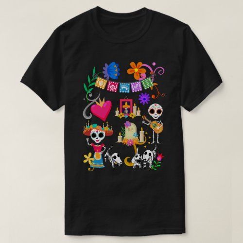 Dachshund Day of The Dead Fiesta T_Shirt