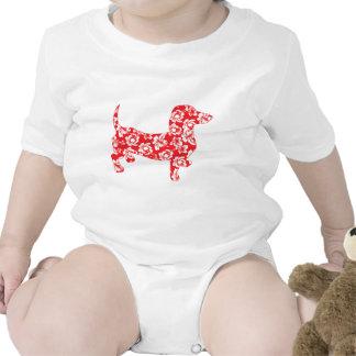 Dachshund de Doxie de la hawaiana Camisetas